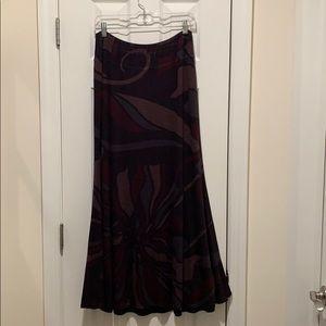 Dresses & Skirts - Reversible Maxi Skirt - Pattern/Black, Medium(6/8)